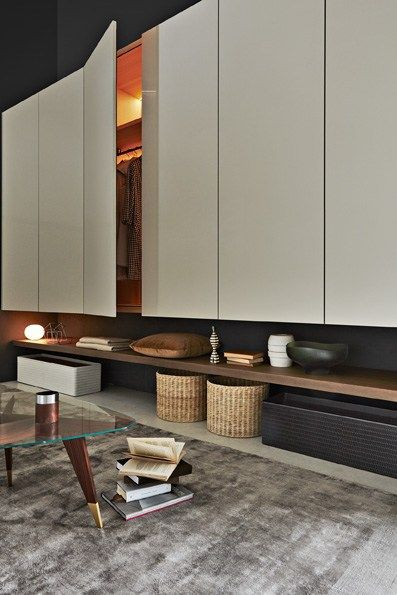Lacquered wardrobe with drawers GLISS-UP - MOLTENI & C.