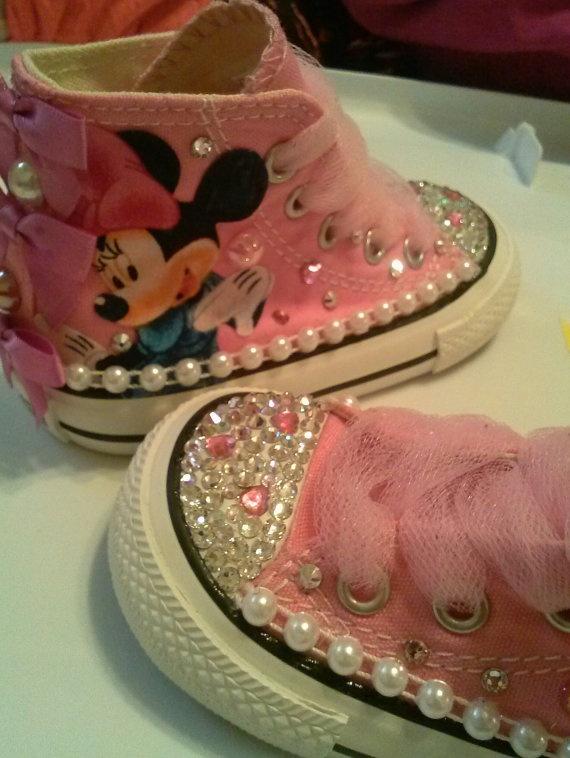 b7987fe1416c1 Minnie Mouse Custom bling sneaker.