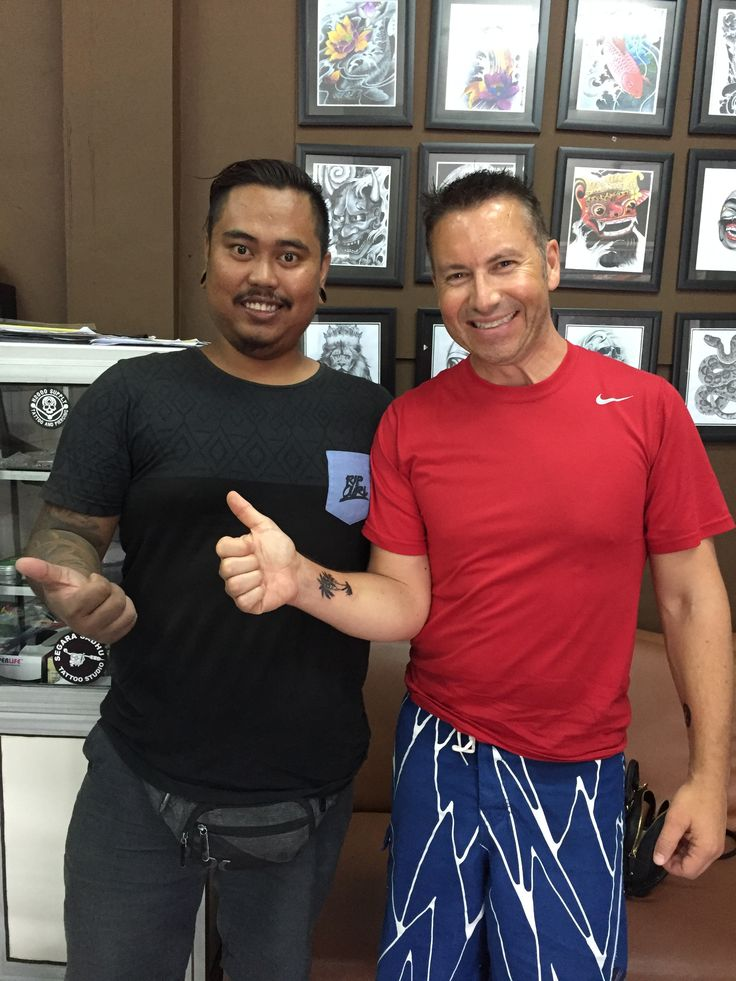 When in Bali might as well get a tattoo!