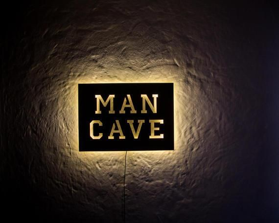 Man Cave LED Sign // Wall Art // Handmade by DesignAtelierArticle
