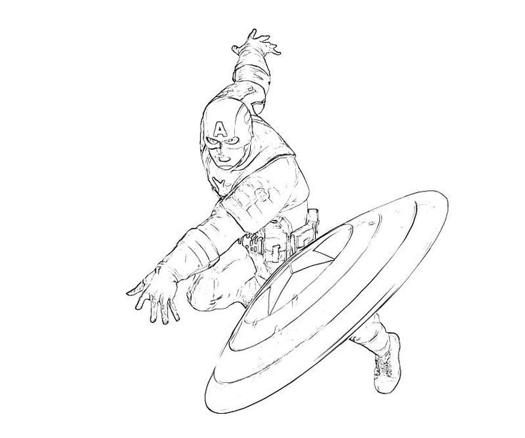 Captain America Colouring Pages