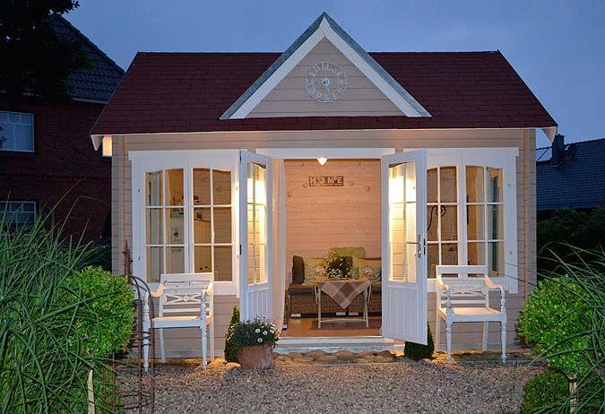 Das Clockhouse-28 in der Praxis: ein Gartenhaus zum Verlieben