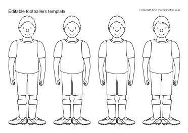 Editable footballer templates (SB7752) - SparkleBox