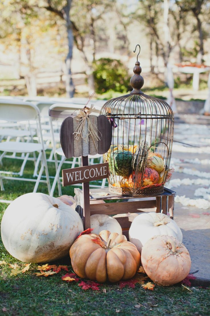 Wedding aisle decorations for my rustic fall wedding