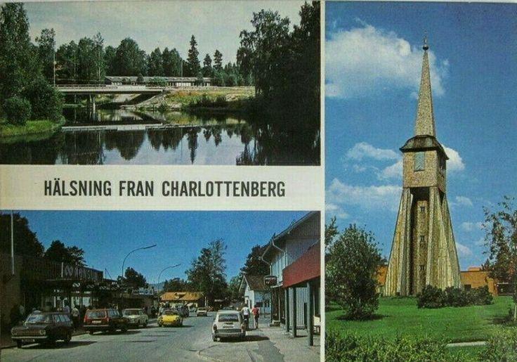 Eda kommun Hälsning från Charlottenberg 1970-talet 3-bildskort