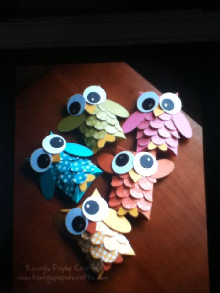 Uiltjes knutselen❤❤ - Gerepind door www.gezinspiratie.nl #knutselspiratie #knutselen #creatief #kind #kinderen #kids #leuk #DIY