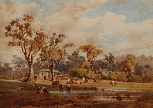 Buvelot, Louis, (1814-1888), On the banks of the Yarra, Victoria, 1870