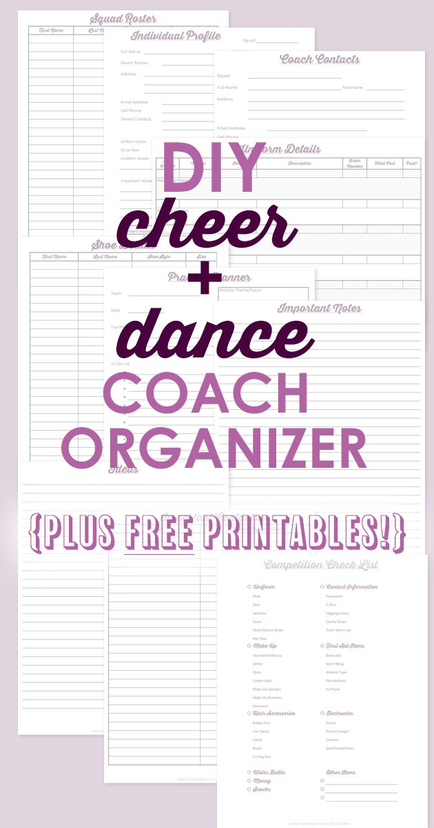 FREE Coaching printables and Advice for staying organized with a coaches binder!
