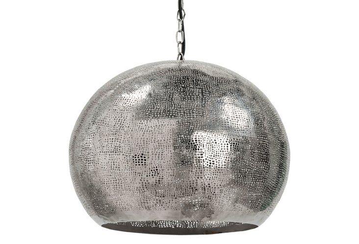 Pierced Metal Sphere Pendant - bedroom 3