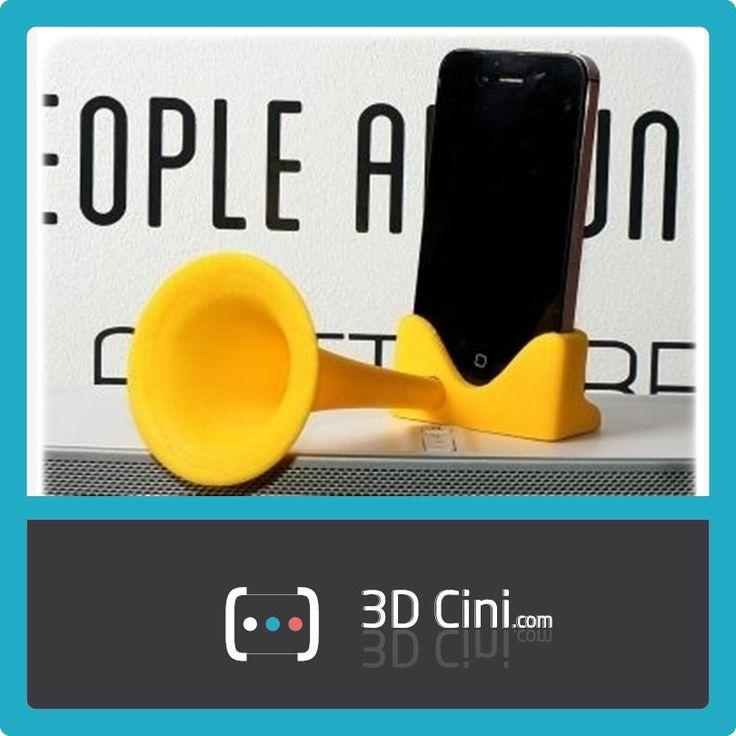 Telefonunuzun sesi daha çok çıksın istiyorsanız, 3D Baskı özel tasarım amfi tam size göre... *iPhone 4,4s, 5 ve 5s ile uyumludur. www.3dcini.com  #3DPrinter #3DBaskı #3DYazıcı