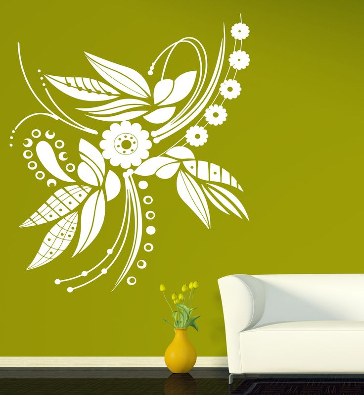 Vinyl Decal Beautiful Flower Floral Ornament for Decor Rooms Wall Stickers (n201)