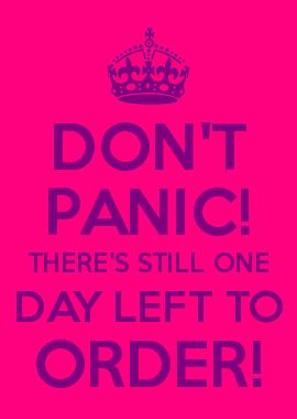 DON'T PANIC! THERE'S STILL ONE DAY LEFT TO ORDER! Www.youniqueproducts.com/AmberRabenschlag