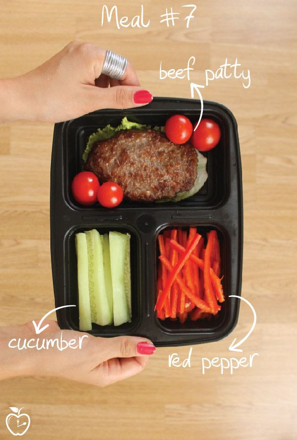 7 Days Of Healthy Meal Prep Ideas - Ready To Eat Meals and Protein On The Go With The Best Meal Containers - beef patty recipe