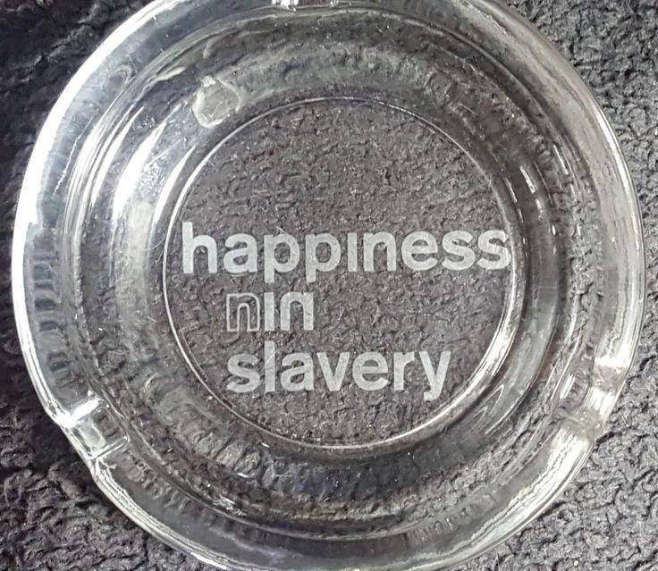 Sandblast Etched Nine Inch Nails Happiness in Slavery, Sin & NIN Glass Ashtrays #NIN #nineinchnails #sin