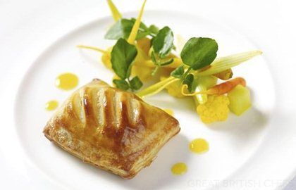 Wild rabbit and leek turnover with piccalilli - Lisa Allen
