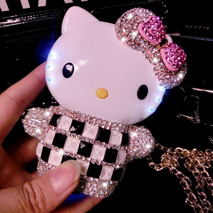 2015 Cristallo Di Lusso del Diamante di Bling Powerbank 12000 mAh Ciao Kitty Powerbank Batteria Esterna Caricabatteria per Tutti I telefoni P2