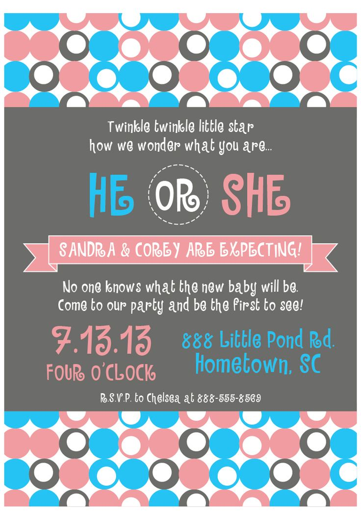 Gender Reveal Party Invitations for the next baby in years to come