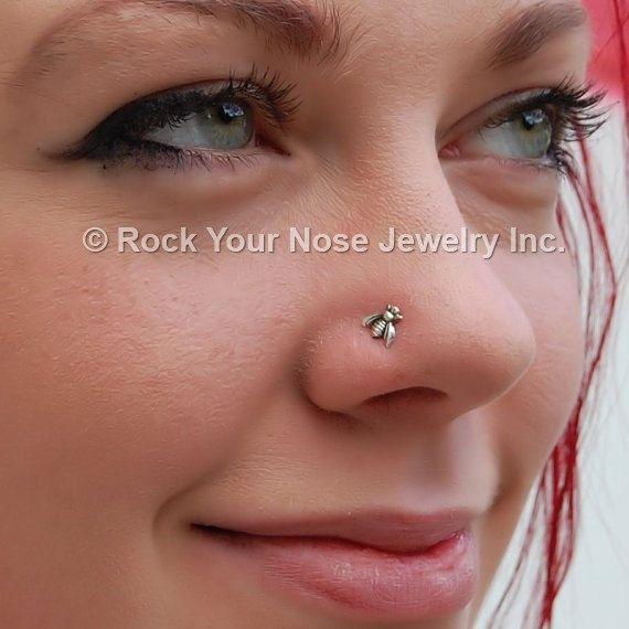 Sterling zilveren kleine Bee insecten neus Stud door RockYourNose