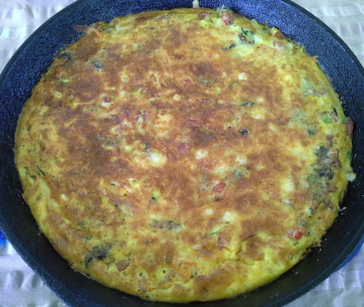 Bacon & Vegetable Frittata. A hearty frittata with bacon, zucchini, carrot, tomato, corn, YIAH Tomato & Herb Dip Mix and parmesan cheese. See my Facebook page for recipe. www.facebook.com/ChristinePryorYIAH