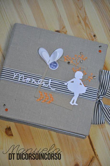...Bianco, Kraft e arancio...l'avreste mai detto? Si si sono i colori del mio ultimo minialbum...realizzato per Monica con le foto del saggio di danza della sua principessa...tante foto, tutte mol...