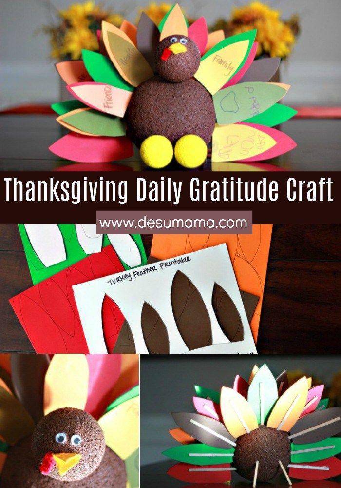 Thanksgiving Turkey Gratitude Craft for Kids 98