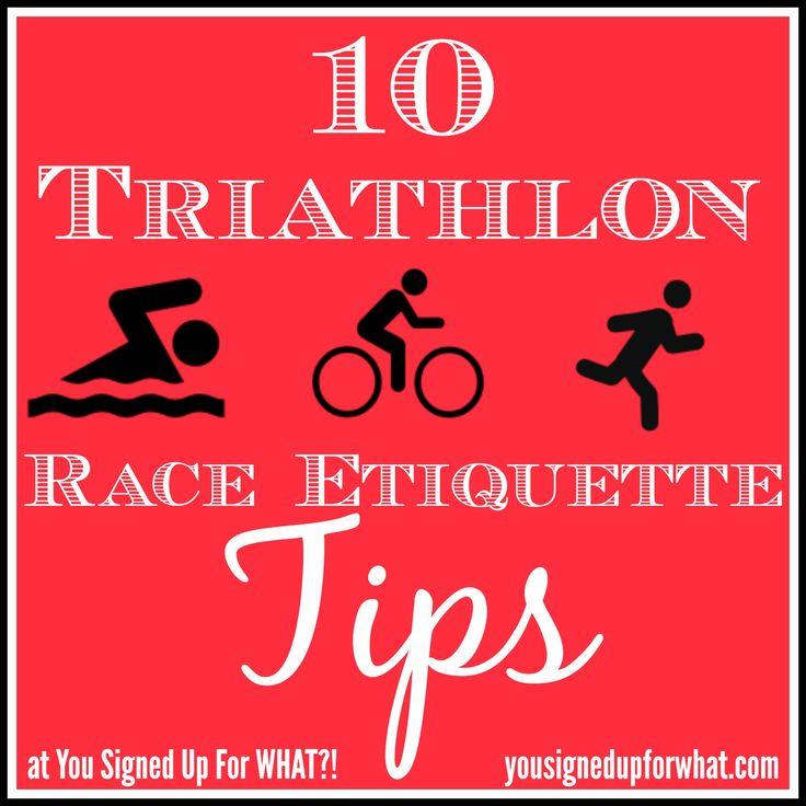 Tri Talk Tuesday: Ten Triathlon Race Etiquette Tips