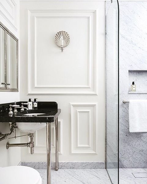 Beautiful Bathroom Chair Rail Specifics Please: 827 Best Beautiful Bathrooms Images On Pinterest