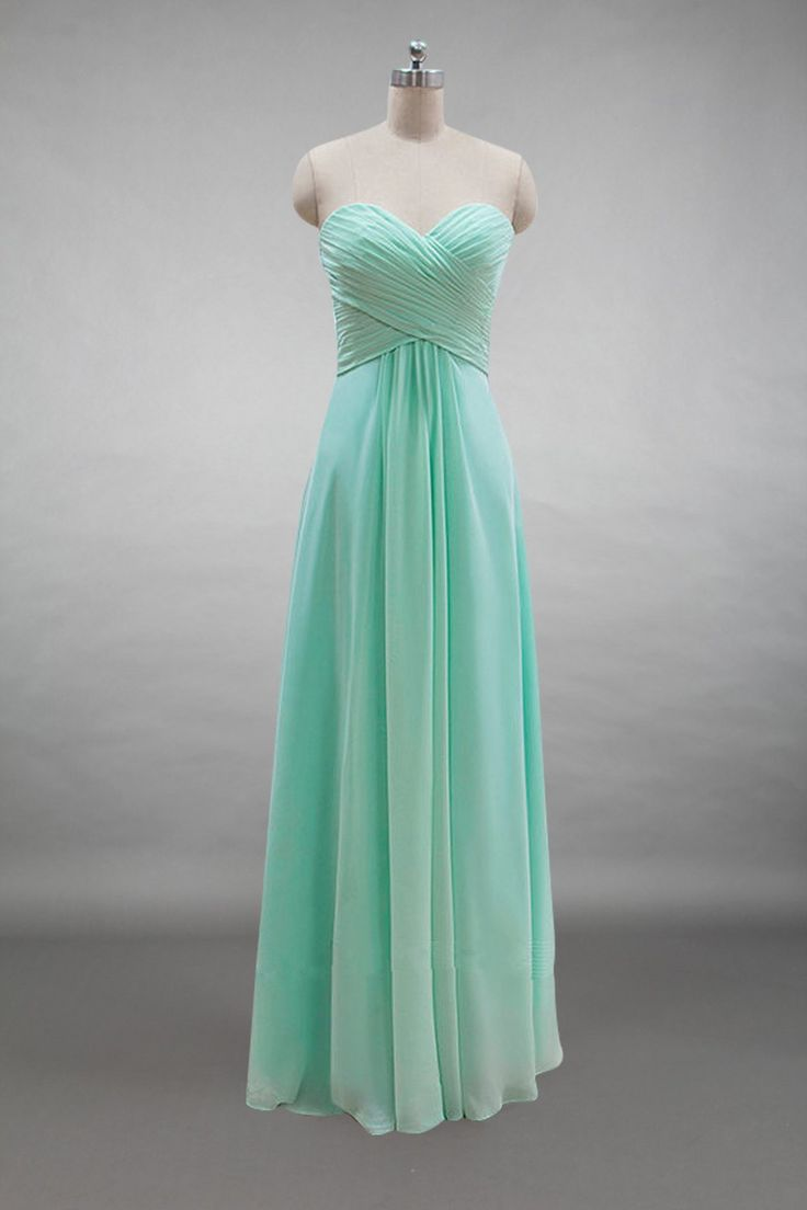 65 best chiffon bridesmaid dresses images on pinterest lace up back sweetheart mint chiffon long bridesmaid dress ombrellifo Image collections