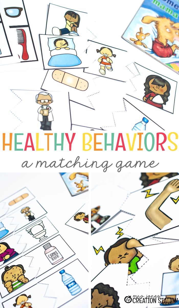 Healthy Behaviors Matching Game  Top Pinterest Moms -5080