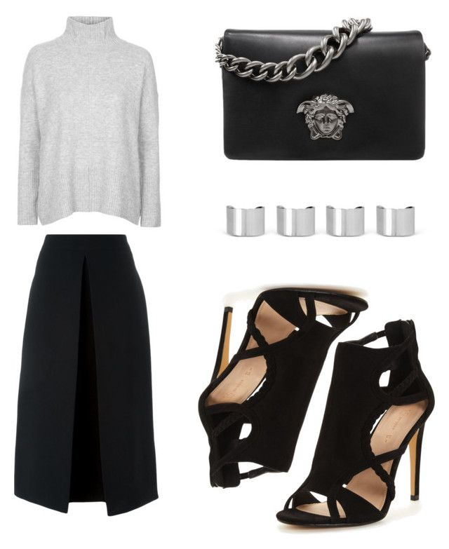 """Cloudy days"" by cschronicles on Polyvore featuring Topshop, McQ by Alexander McQueen, Versace and Maison Margiela"