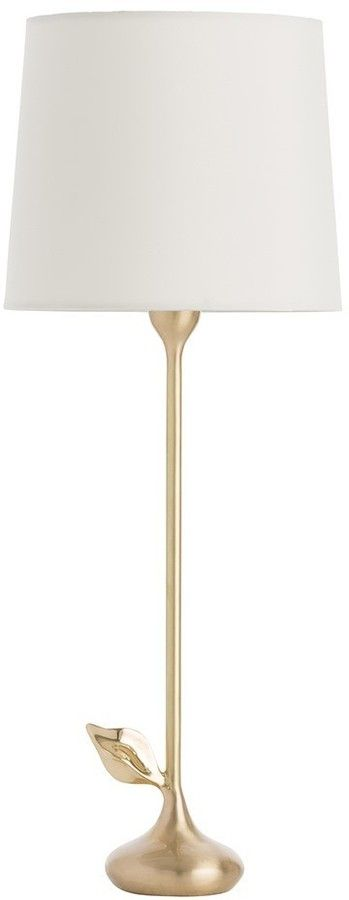 The Well Appointed House Arteriors Brass Table Lamp with Leaf