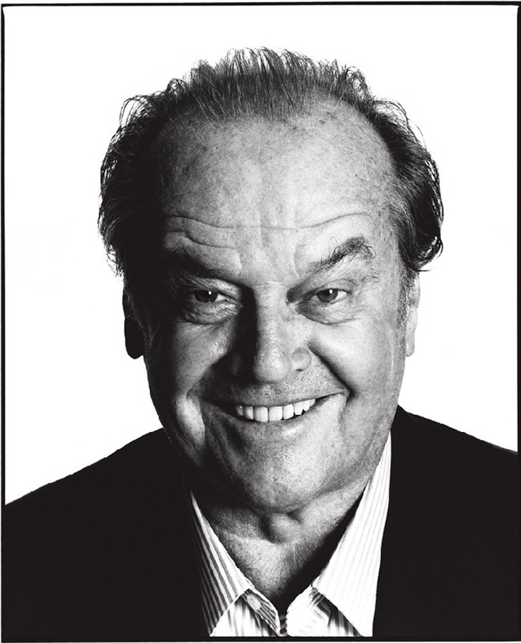 Jack Nicholson (1937) - American actor, film director, producer, writer. Photo by David Bailey