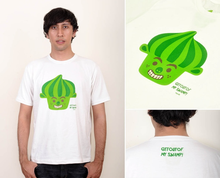 Shrek | @ IDR 80.000*  Special Price valid until 31st Aug, 2012    Sex : Male    Material : Cotton Combad 30s    Availabe size : S, M, L    Sizing | MALE  - S : chest 42-45cm ; length 63 cm  - M : chest 47-49cm ; length 65 cm  - L : chest 52-55cm ; length 69 cm  - XL : chest 56-58cm ; length 73 cm    Order : SMS +6287853724499  email : pickme@heymoochi.com    *exclude shipping cost