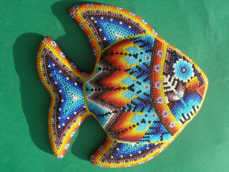fish art | Huichol Clay Fish - Latin - Mexican Folk Art Craft