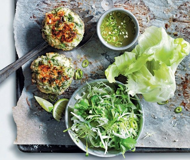 Life in balance with Donna Hay: Baked fish cakes with chilli lime dressing