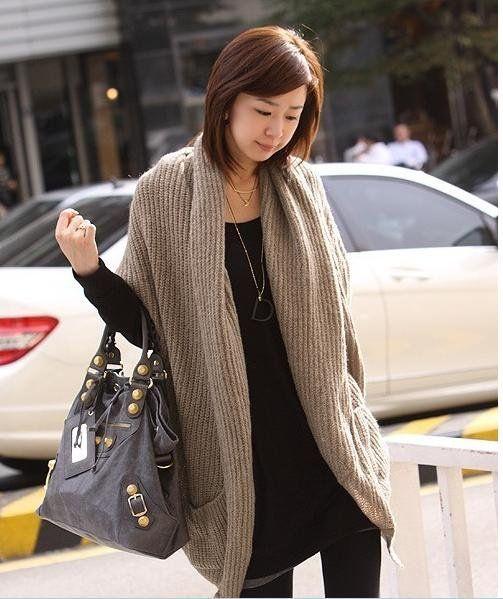 Vrouwen mode gebreid vest trui katoen onregelmatige stijl sjaal cape jas winter jassen bovenkleding gril's
