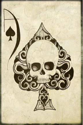 Ace of Spades Drawing 4x6 Photo Print (many sizes available). via Etsy.
