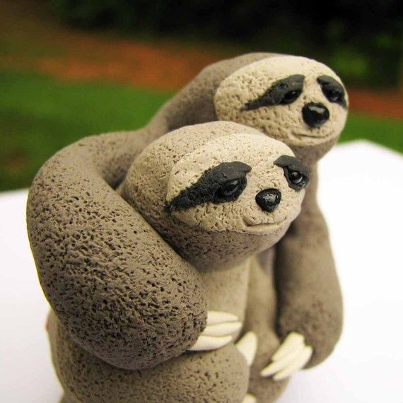 Sloth wedding cake topper. Because yes.