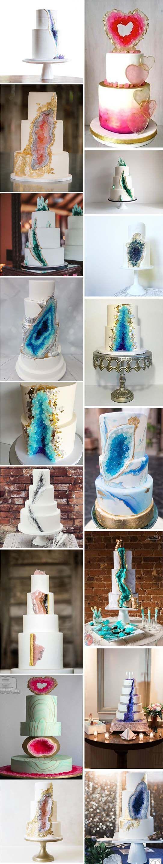 Best Geode Cake Ideas On Pinterest Pastel Wedding Cake Icing