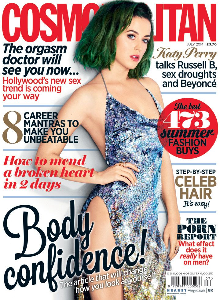 Katy Perry is Cosmo's July 2014 Cover Star - 12 Katy Perry Cosmo Covers You've Never Seen Before - Cosmopolitan