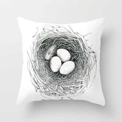 Love this nest pillow! Perfect for spring.