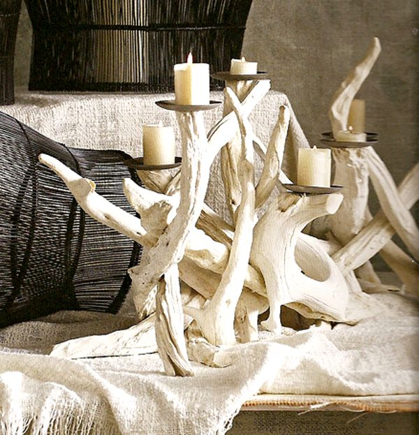Driftwood Candle Holder :  driftwood candle holder driftwood candelabra