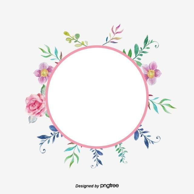 دائرة الزهور الوردية دائرة فنية زهري دائرة Png وملف Psd للتحميل مجانا Embroidery Flowers Pattern Flower Art Embroidery Art