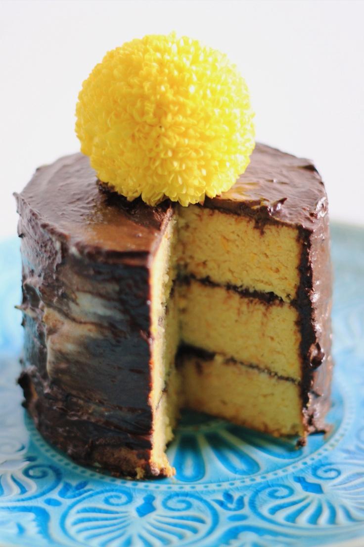 Flourless Orange Cake with Coconut lime cream and choc ganache...Wholefood style : ) Yum!