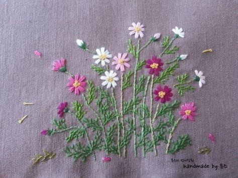 Fleur brodée