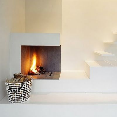 Ok you don't really want to fall off the stairs and slip into the fire...but it looks nice.