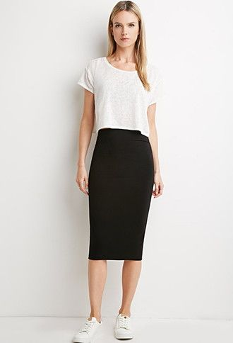 Classic Midi Pencil Skirt | Forever 21 - 2000173340