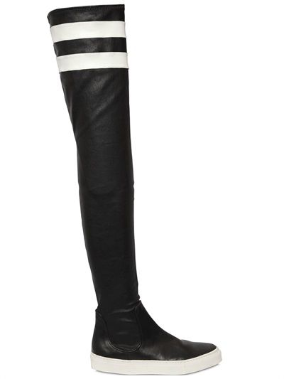 EUGENE RICONNEAUS - 10MM STRETCH LEATHER BOOTS - LUISAVIAROMA - LUXURY SHOPPING WORLDWIDE SHIPPING - FLORENCE
