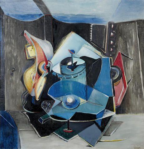 ENRICO DONATI (1909-2008) Istrumento di suono 31 1/8 x 29 7/8 in (80 x 76 cm) (Painted circa 1948)