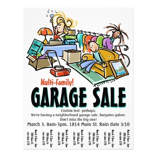 Garage Sale. Moving Sale. Yard Sale Custom flyer